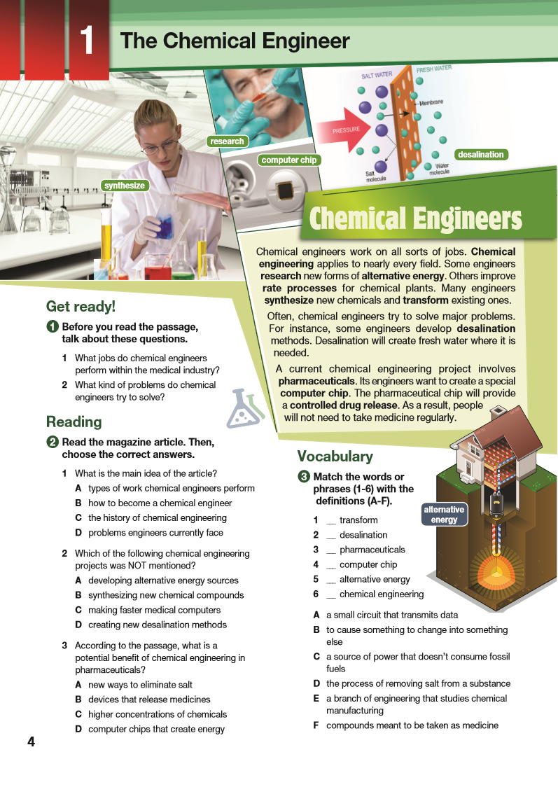 ESP English for Specific Purposes - Career Paths: Chemical Engineering - Sample Page 1