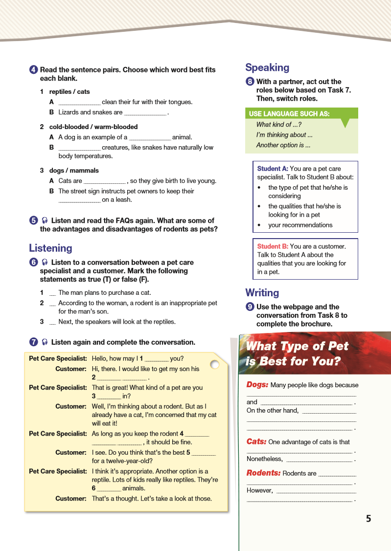 ESP English for Specific Purposes - Career Paths: Pet Care - Sample Page 2
