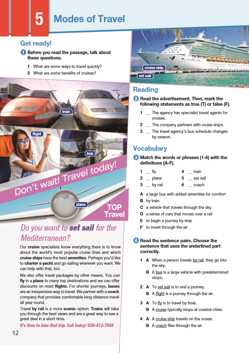 ESP English for Specific Purposes - Career Paths: Travel Agent - Sample Page 1