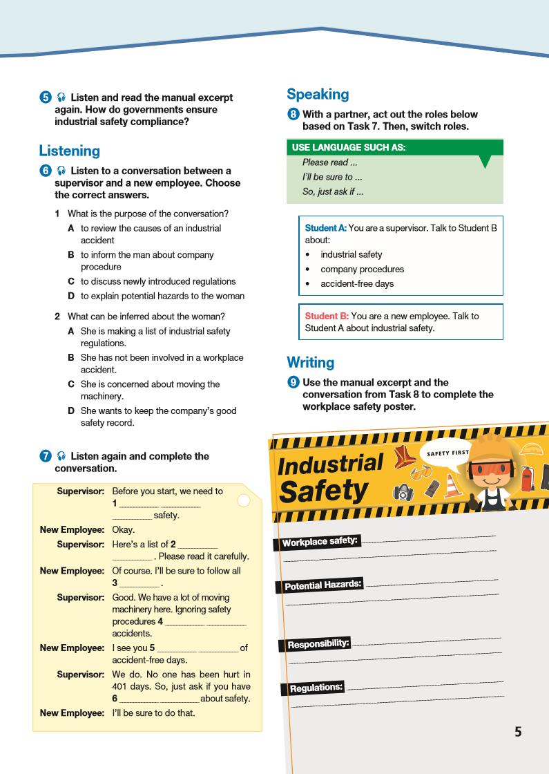 ESP English for Specific Purposes - Career Paths: Industrial Safety - Sample Page 2