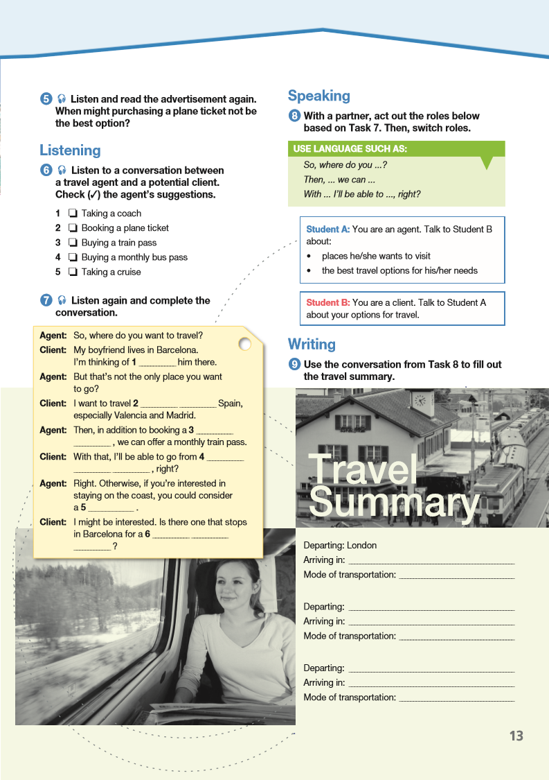 ESP English for Specific Purposes - Career Paths: Travel Agent - Sample Page 2