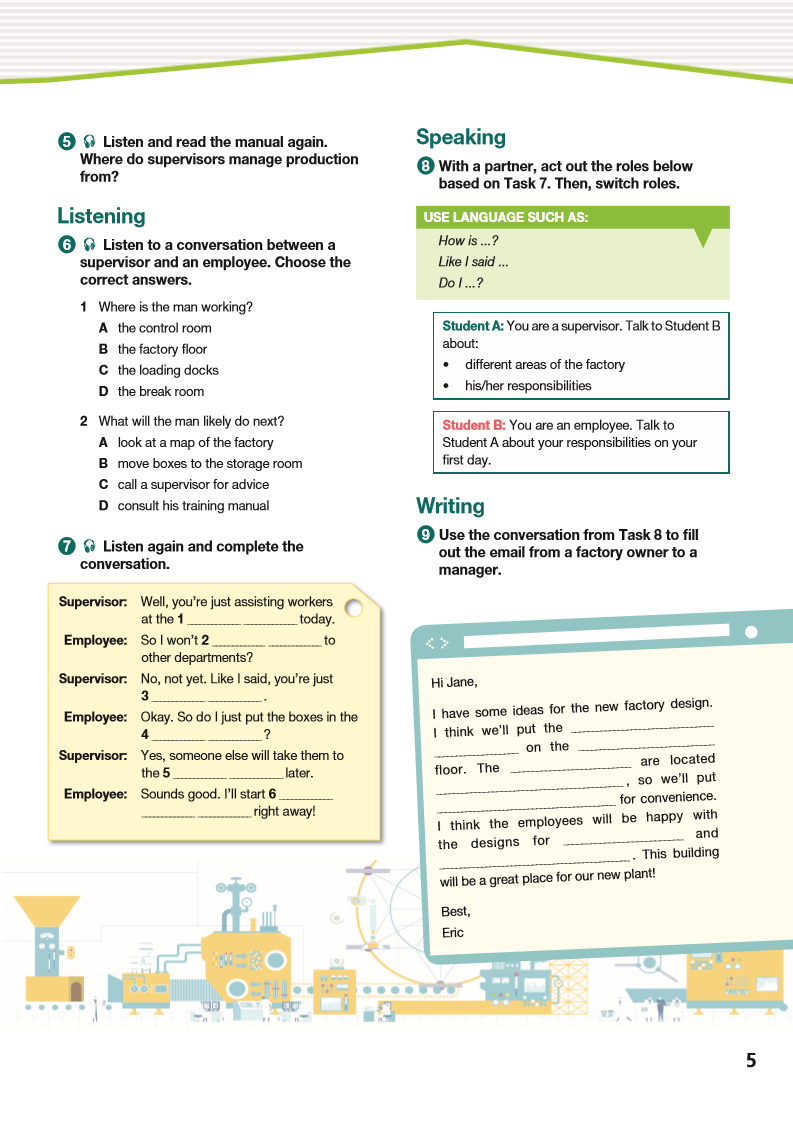 ESP English for Specific Purposes - Career Paths: Industrial Assembly - Sample Page 2