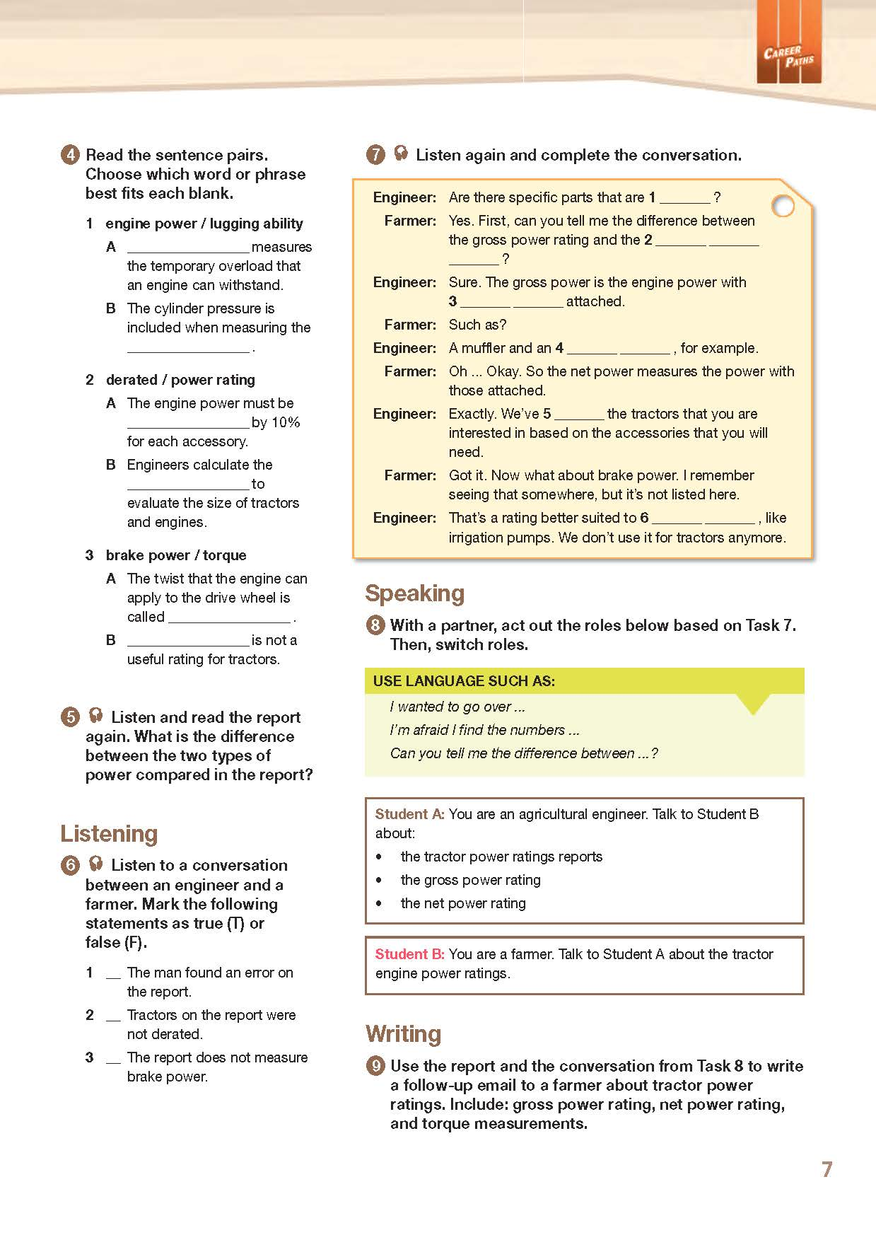 ESP English for Specific Purposes - Career Paths: Agriculture Engineering- Sample Page 4