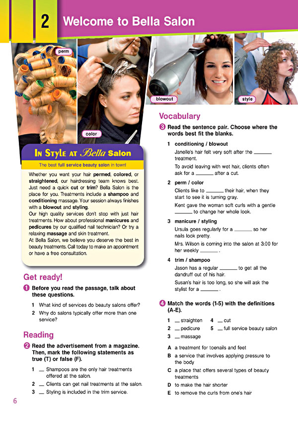 Sample Page 3 - Career Paths: Beauty Salon