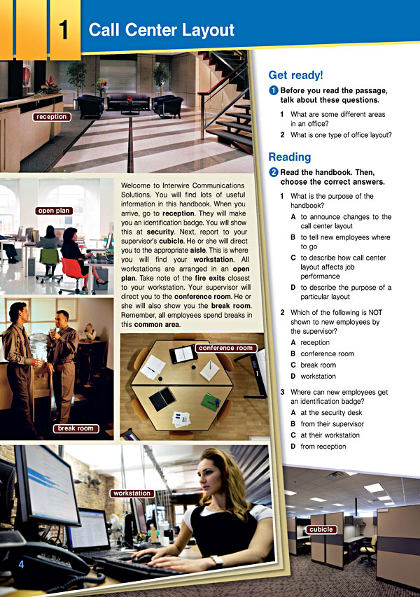 Sample Page 1 - Career Paths: Call Centers