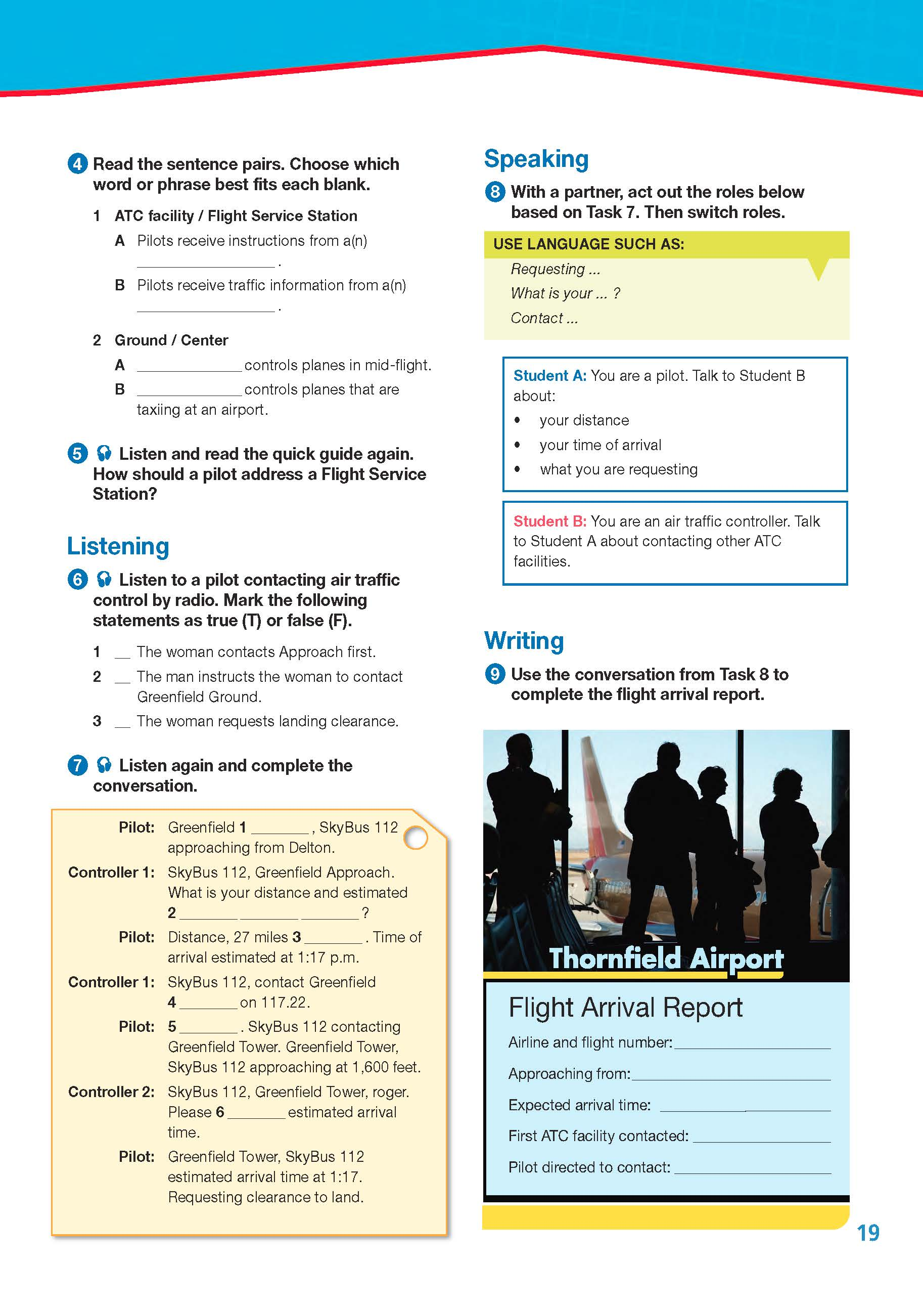 ESP English for Specific Purposes - Career Paths: Civil Aviation - Sample Page 2