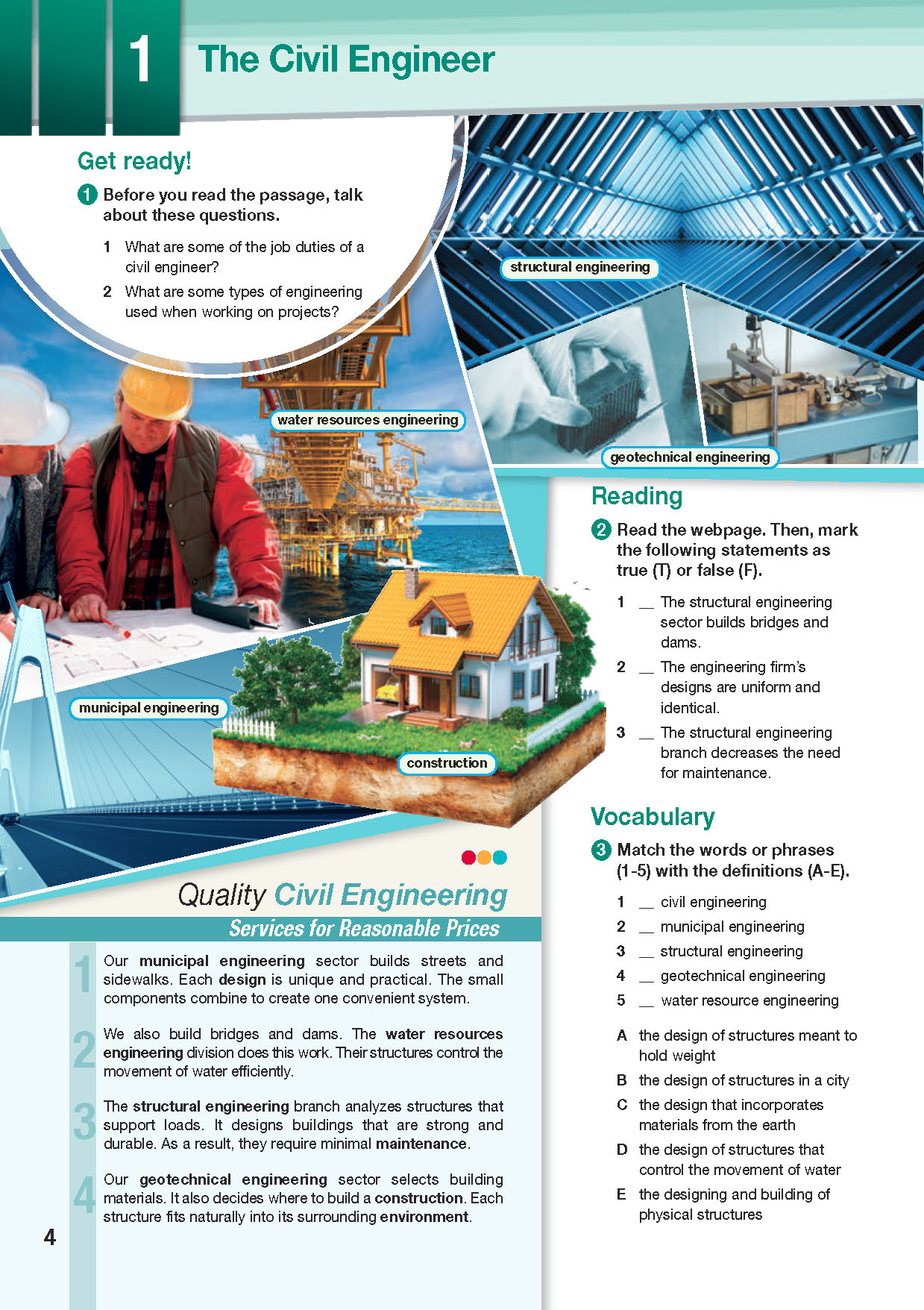 ESP English for Specific Purposes - Career Paths: Civil Engineering - Sample Page 1