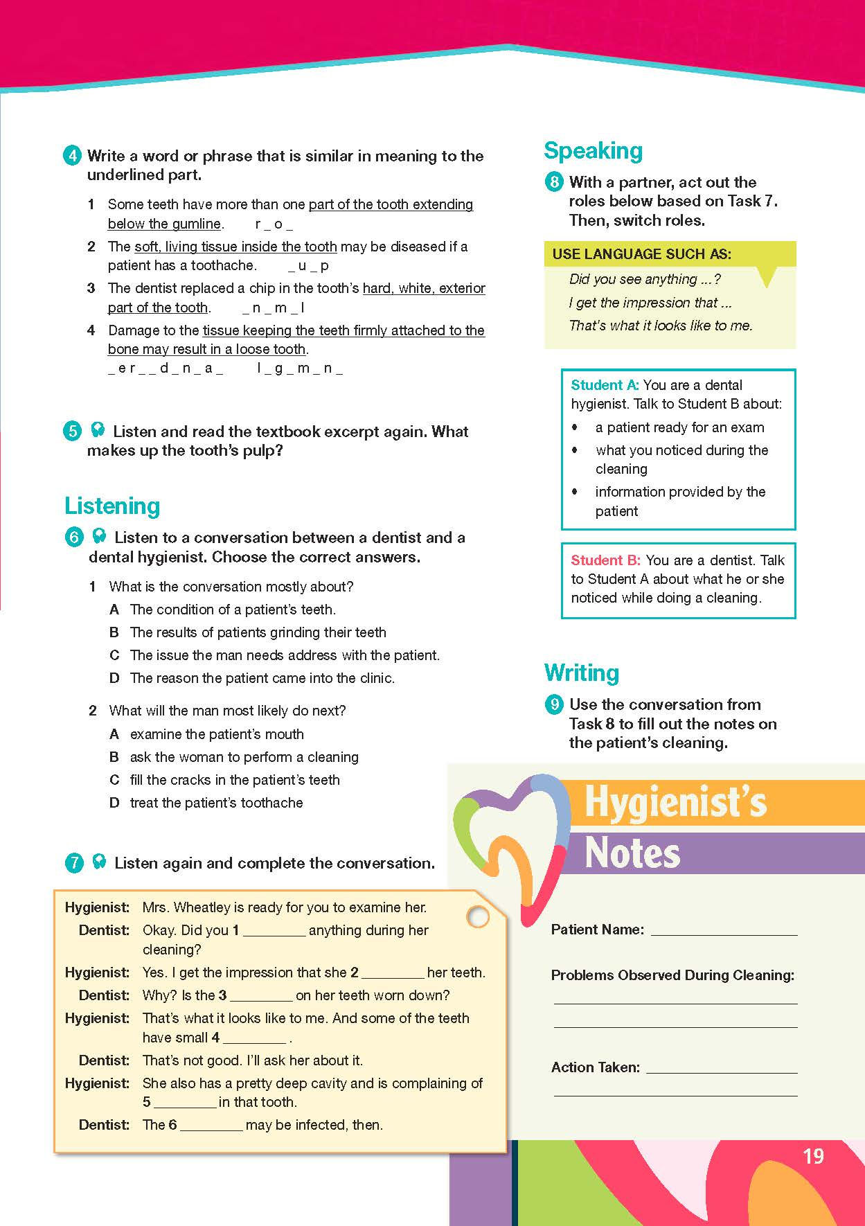 ESP English for Specific Purposes - Career Paths: Dental Hygienist- Sample Page 4