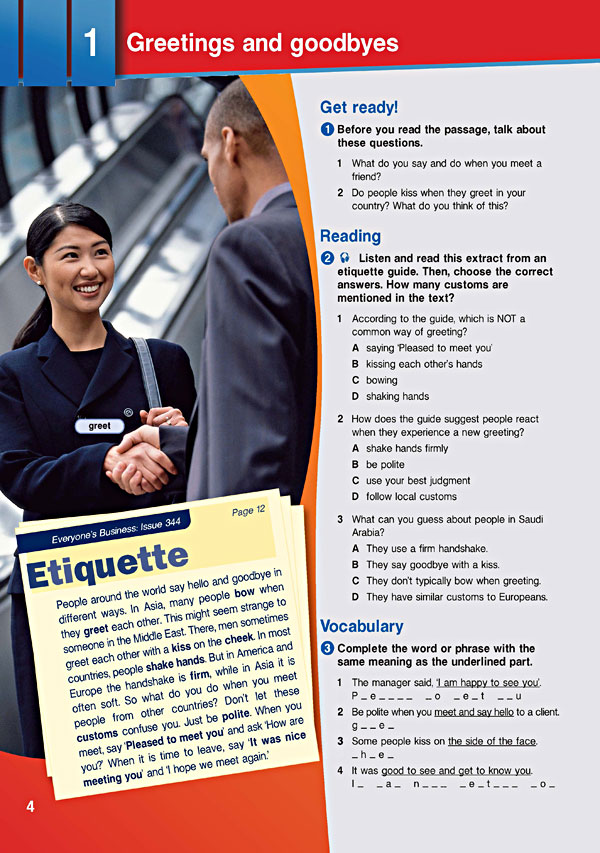 Sample Page 1 - Career Paths: Business English