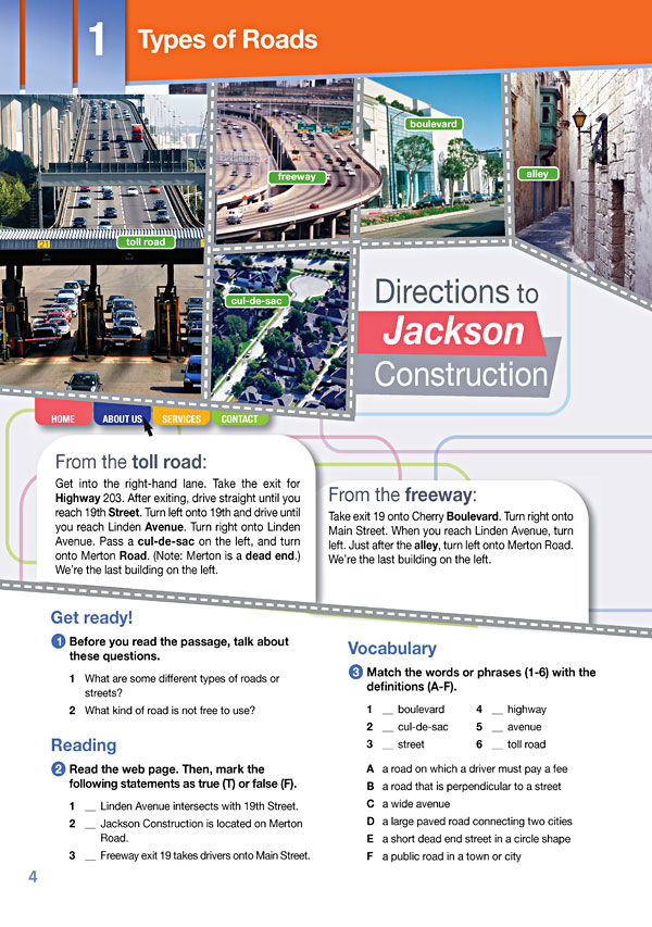 Sample Page 1 - Career Paths: Construction II - Roads & Highways