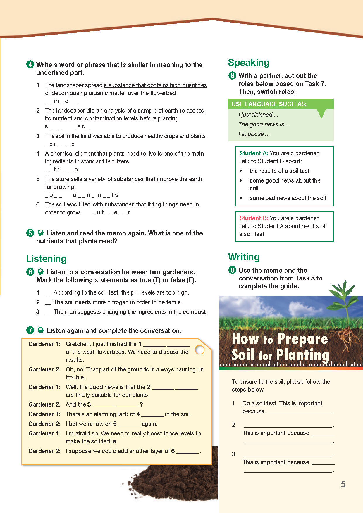 ESP English for Specific Purposes - Career Paths: Landscaping - Sample Page 2