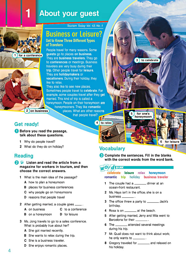 Sample Page 1 - Career Paths: Tourism