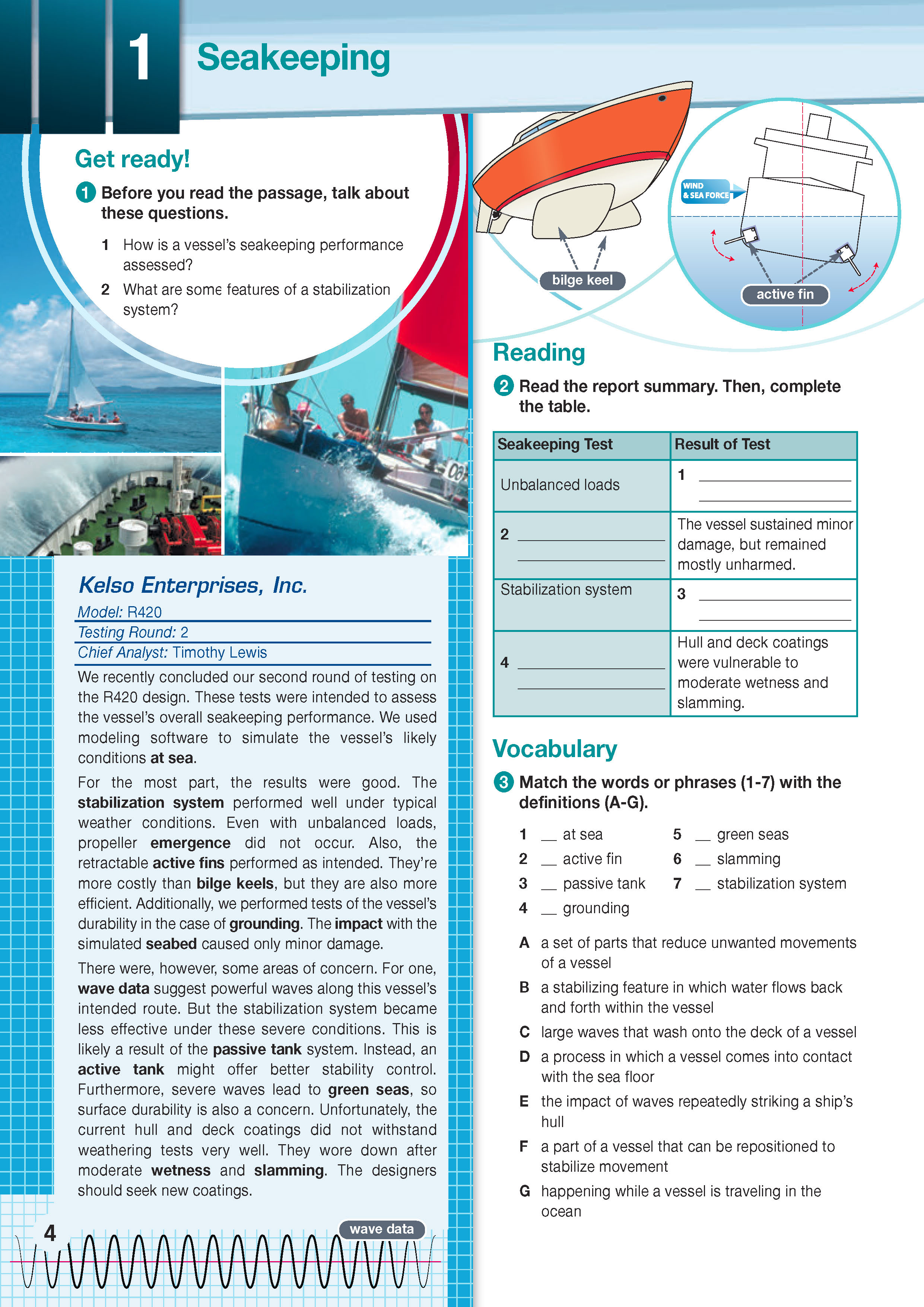 ESP English for Specific Purposes - Career Paths: Marine Engineering - Sample Page 1