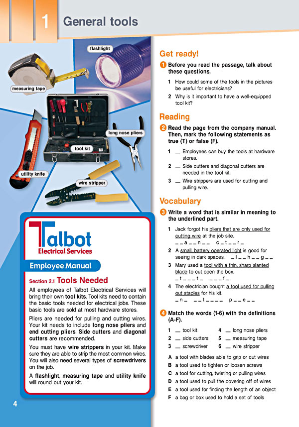 Sample Page 1 - Career Paths: Electrician