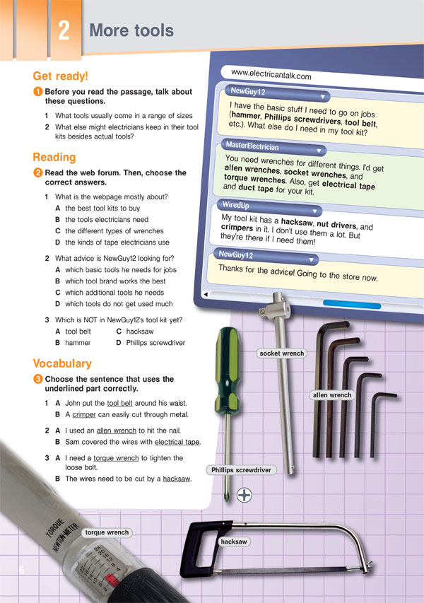 Sample Page 3 - Career Paths: Electrician