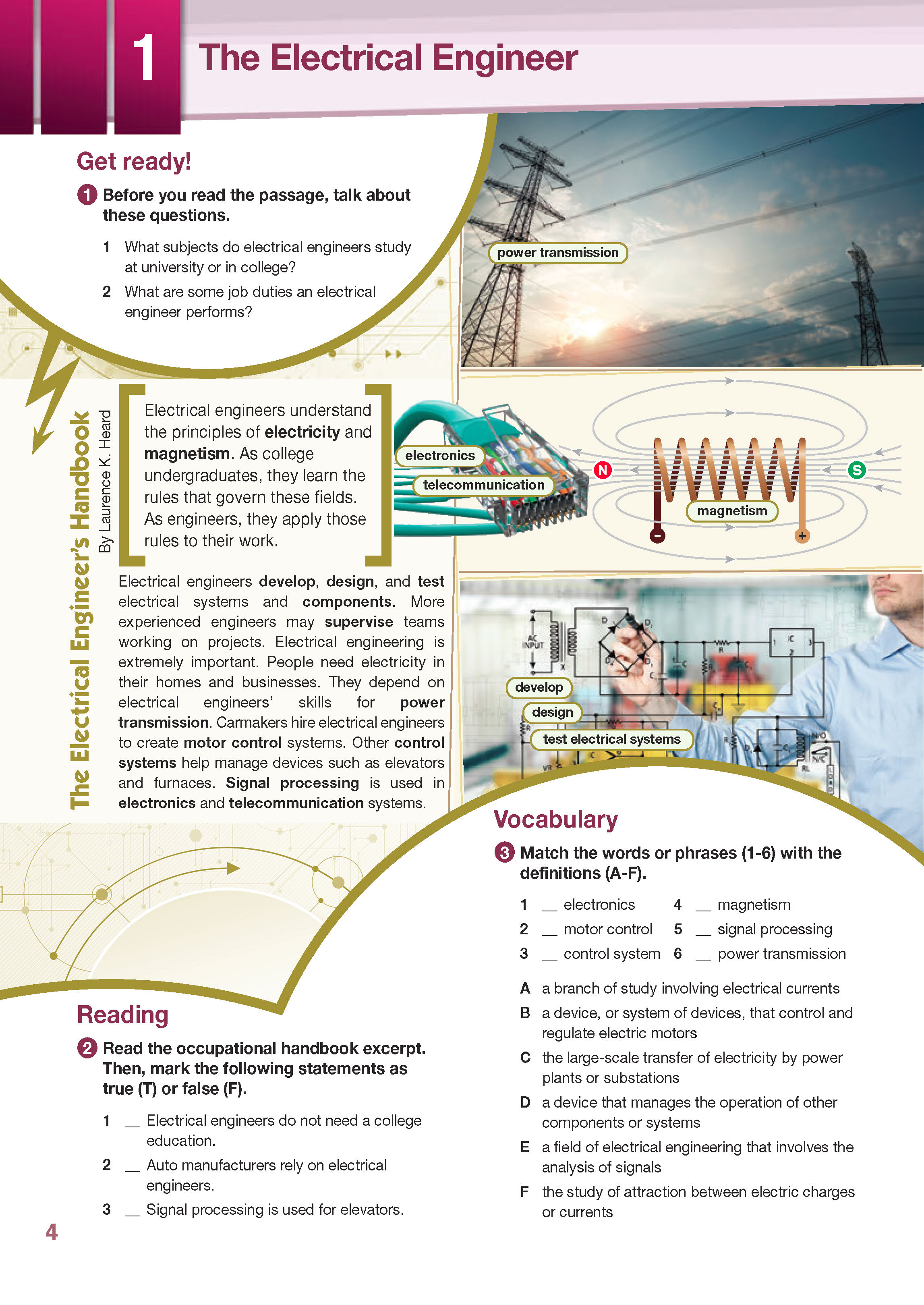 ESP English for Specific Purposes - Career Paths: Electrical Engineering - Sample Page 1