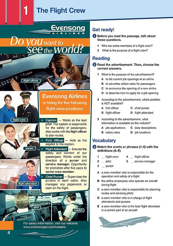 Sample Page 1 - Career Paths: Flight Attendant