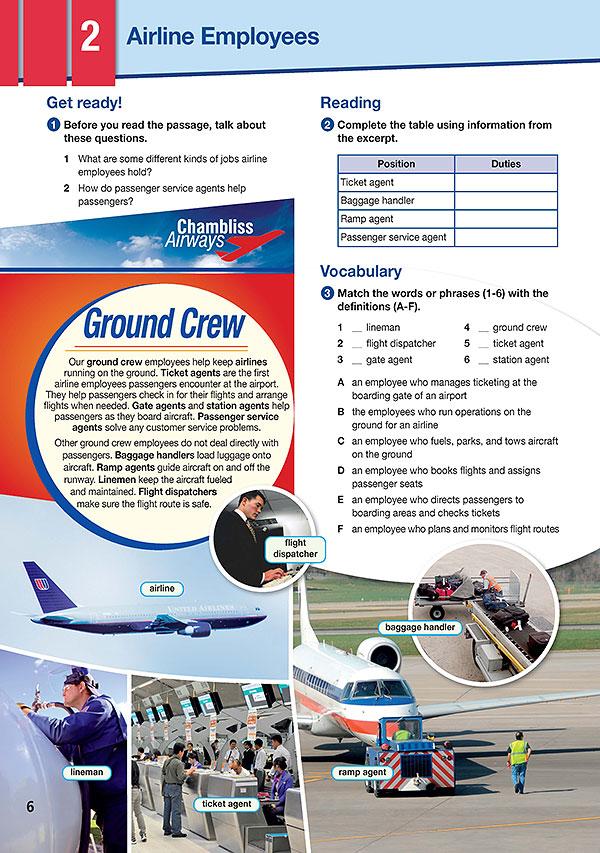 Sample Page 3 - Career Paths: Flight Attendant