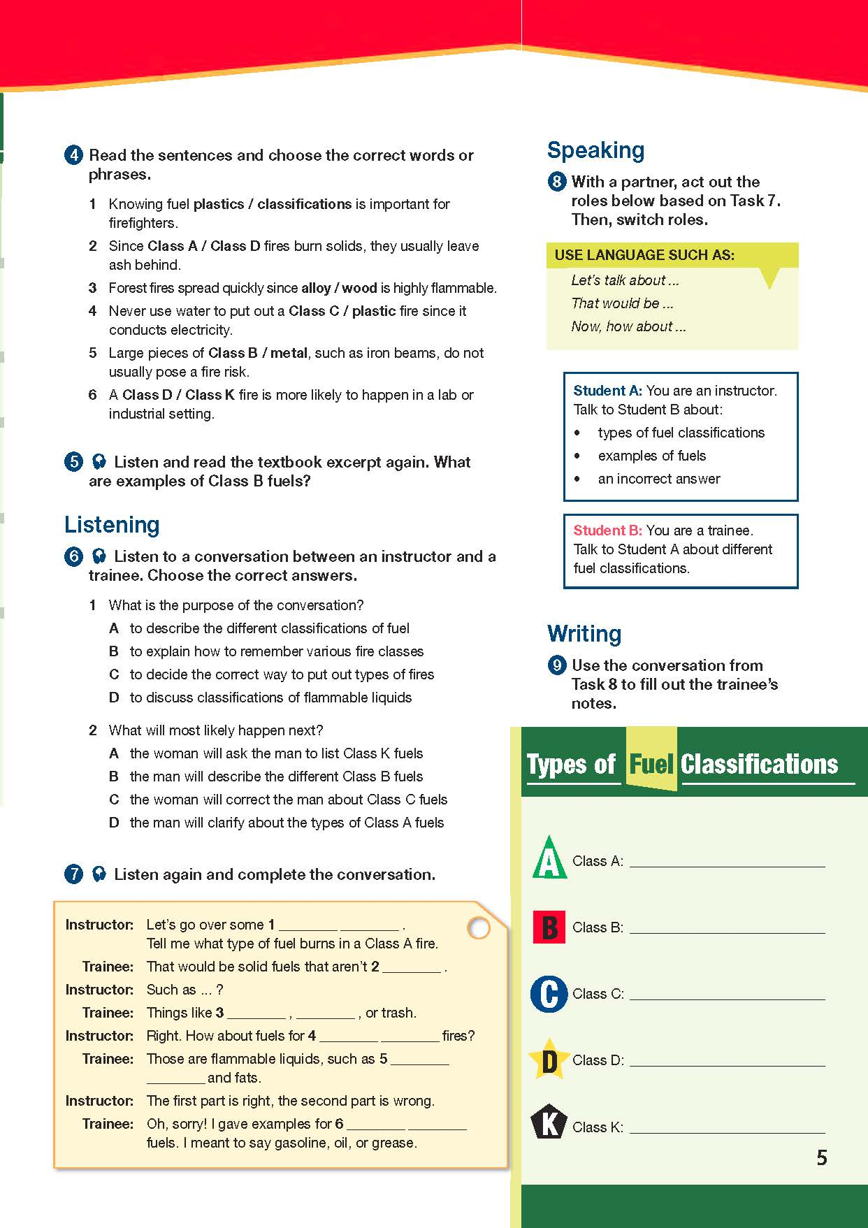ESP English for Specific Purposes - Career Paths: Firefighters - Sample Page 4