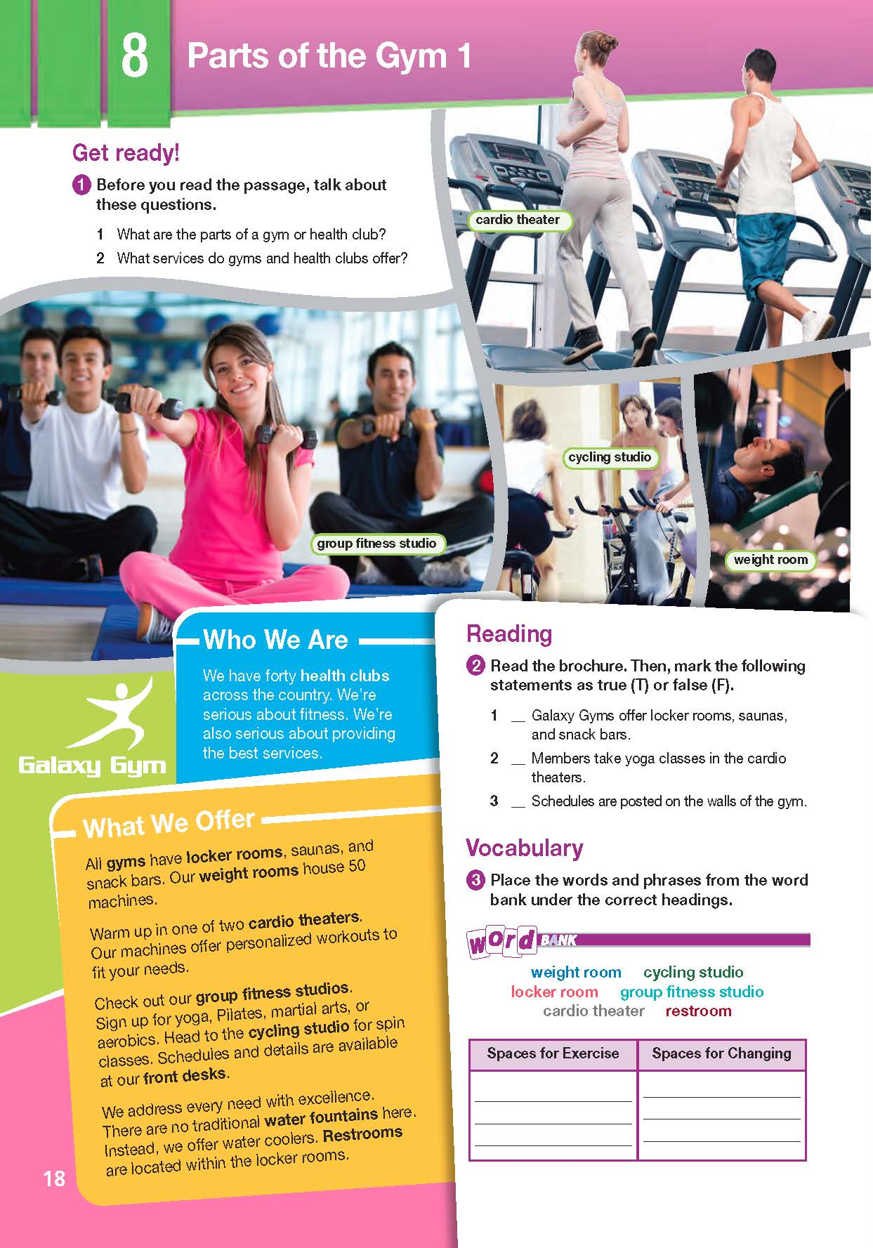 ESP English for Specific Purposes - Career Paths: ESP English for Specific Purposes - Career Paths: Fitness Training - Sample Page 1