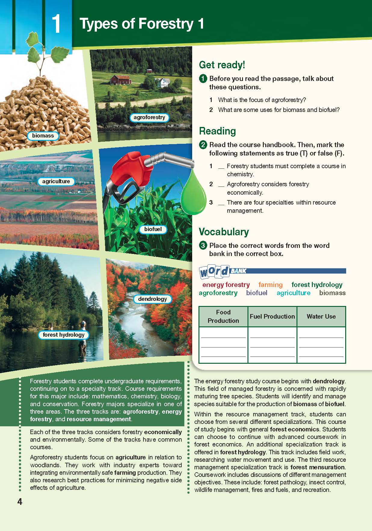 ESP English for Specific Purposes - Career Paths: Natural Resources I Forestry - Sample Page 1