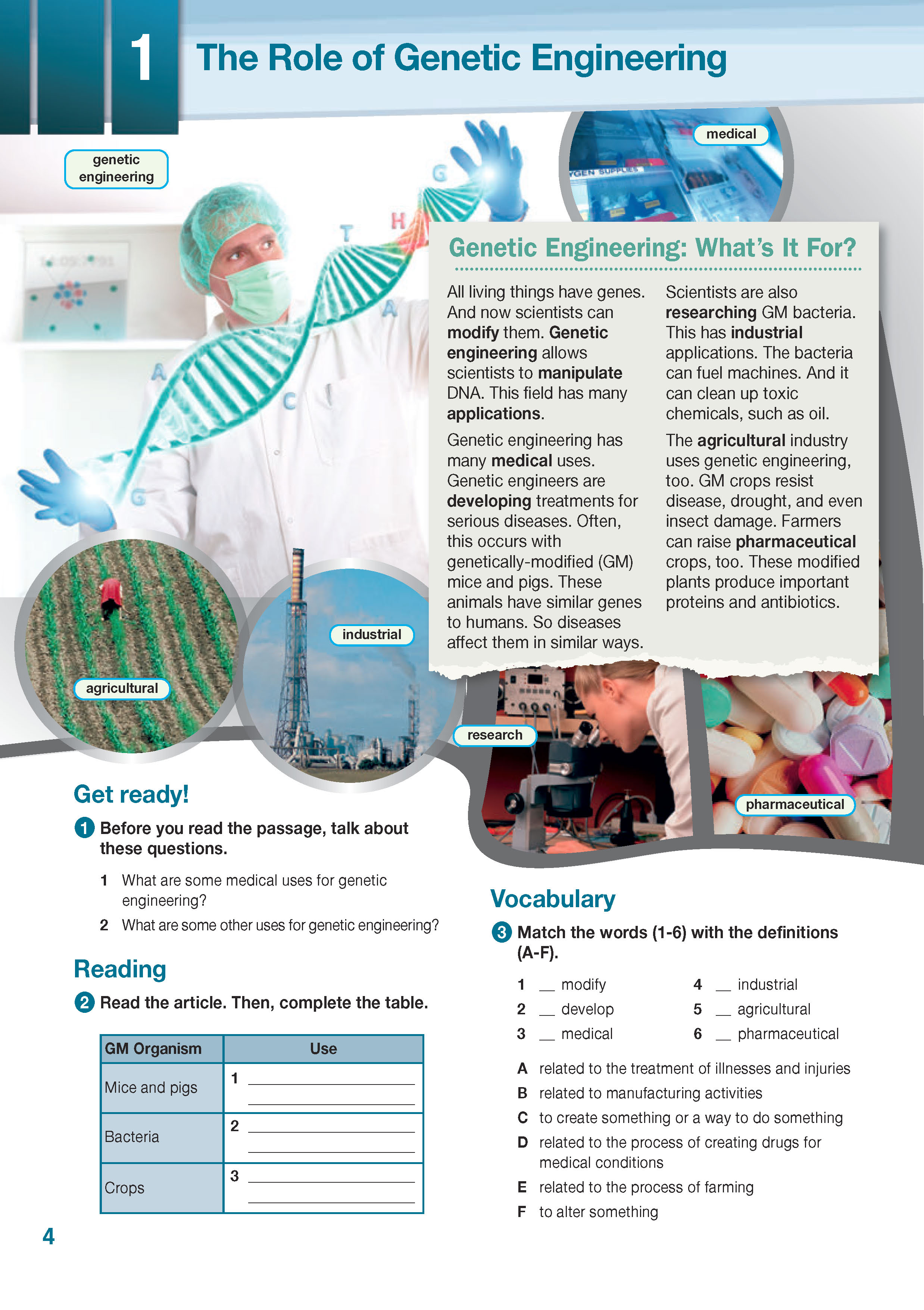 ESP English for Specific Purposes - Career Paths: Genetic Engineering - Sample Page 1