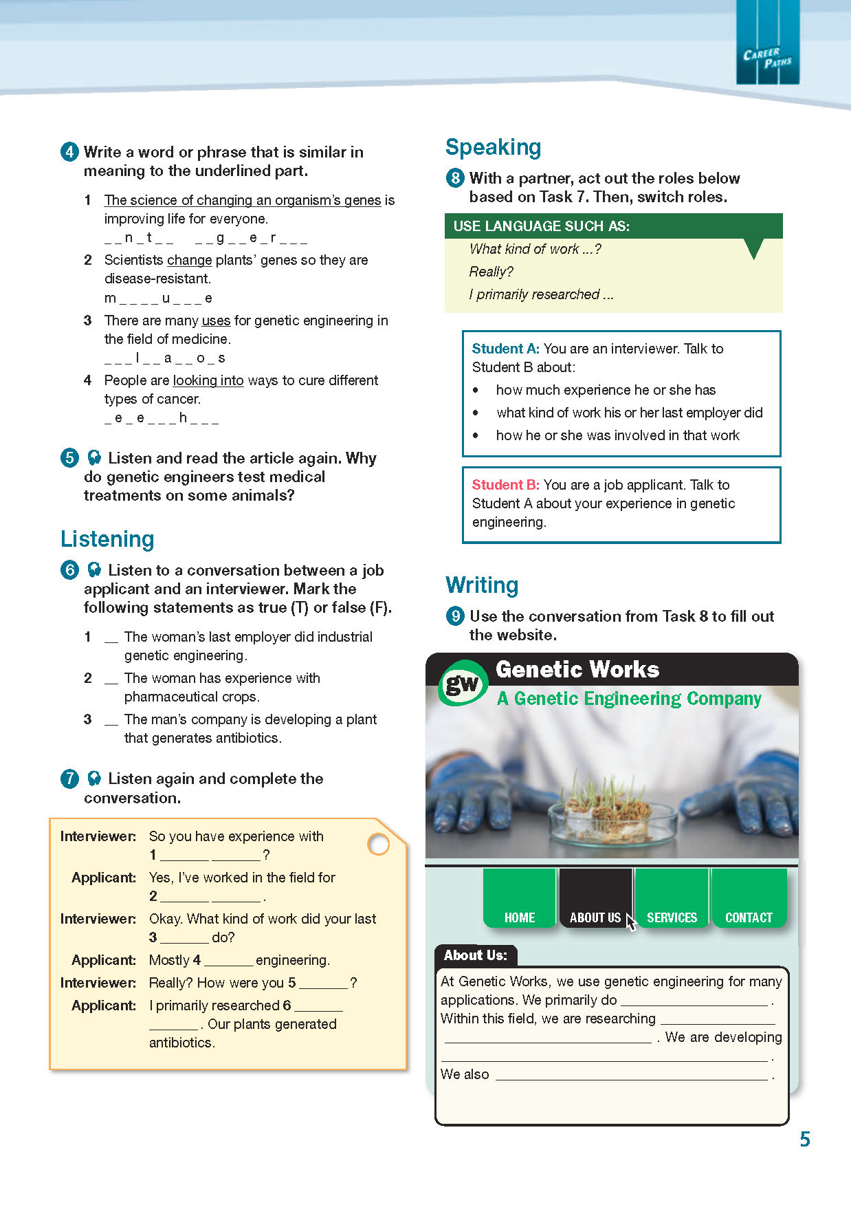 ESP English for Specific Purposes - Career Paths: Genetic Engineering - Sample Page 2
