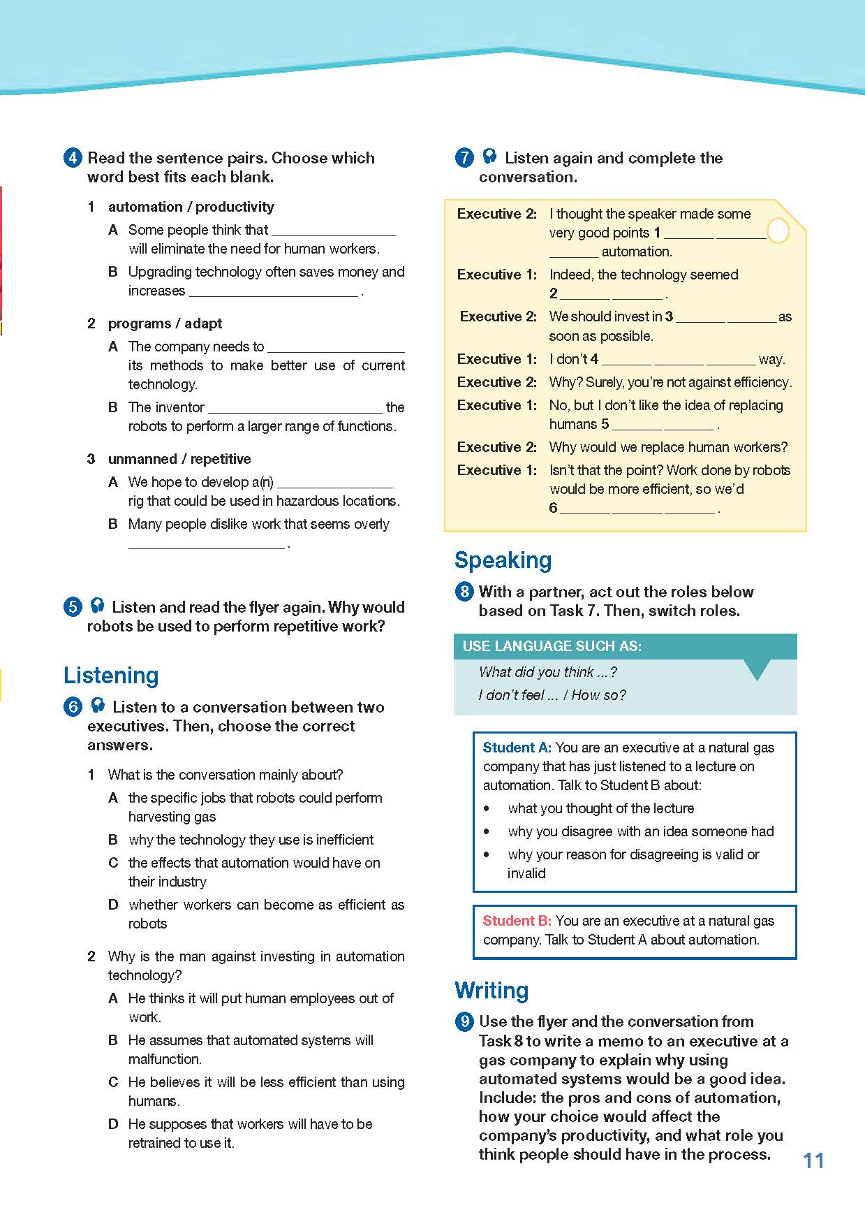 ESP English for Specific Purposes - Career Paths: Natural Gas I - Sample Page 2