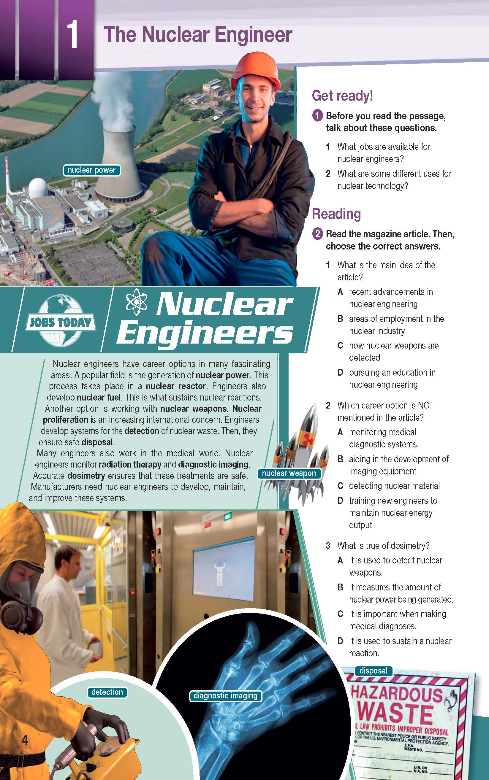 ESP English for Specific Purposes - Career Paths: Nuclear Engineering - Sample Page 1