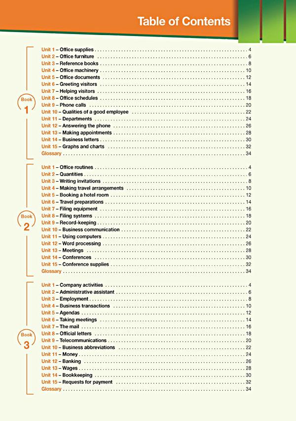 Contents - Career Paths: Secretarial