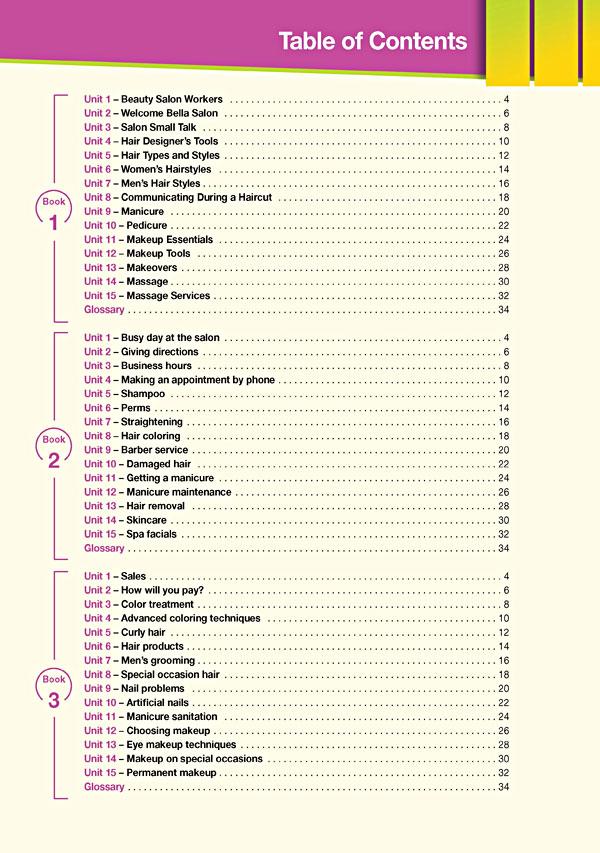 Contents - Career Paths: Beauty Salon