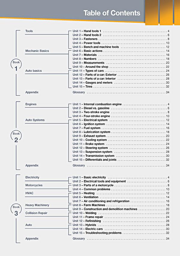 Contents - Career Paths: Mechanics