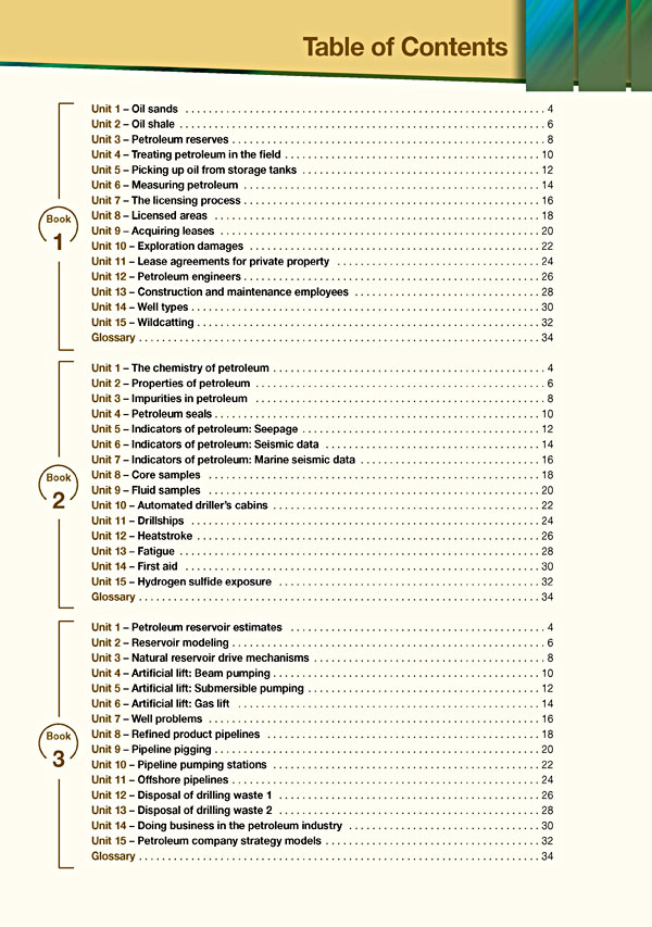 Contents - Career Paths: Petroleum II