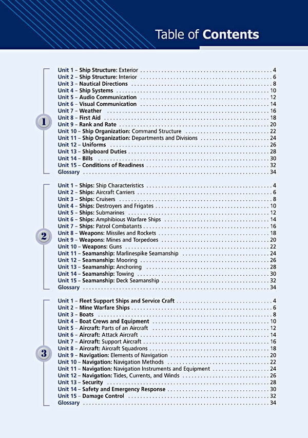 Contents - Career Paths: Navy