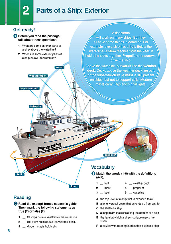 Sample Page 3 - Career Paths: Fishing & Seafood Industry