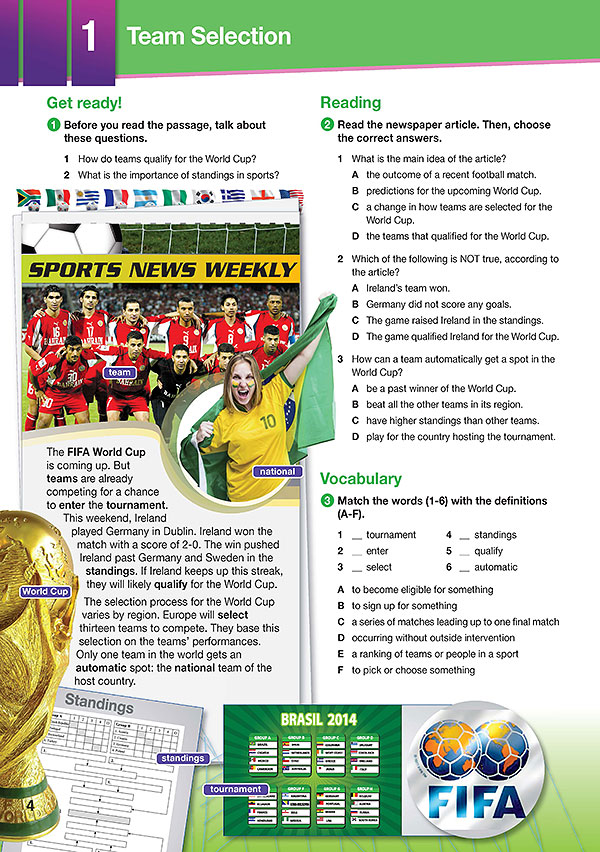 Sample Page 1 - Career Paths: World Cup