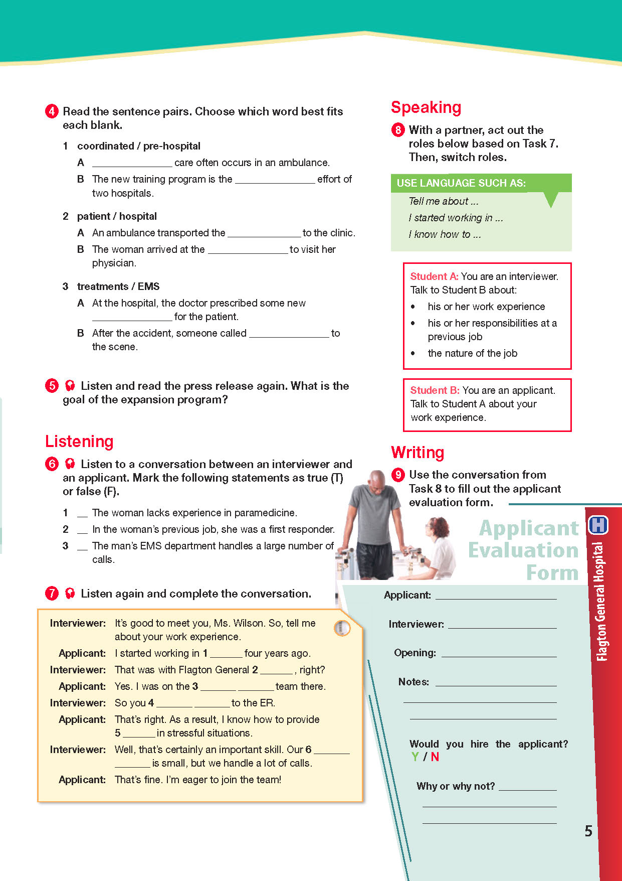 ESP English for Specific Purposes - Career Paths: Paramedics - Sample Page 2