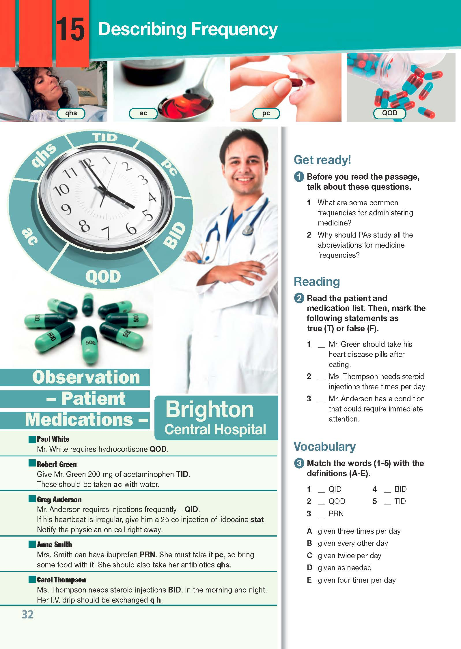 ESP English for Specific Purposes - Career Paths: Physician Assistant - Sample Page 3