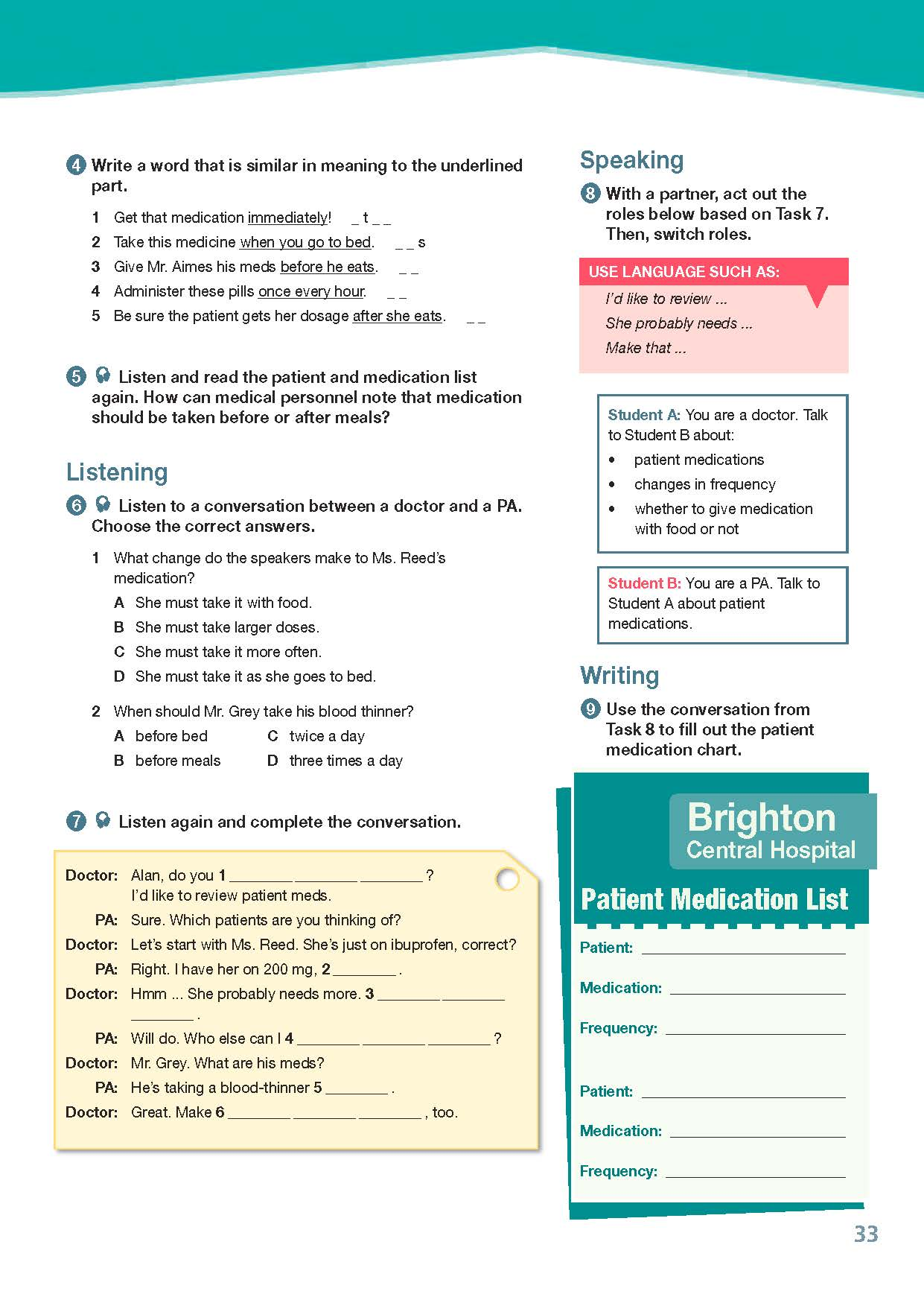 ESP English for Specific Purposes - Career Paths: Physician Assistant - Sample Page 4