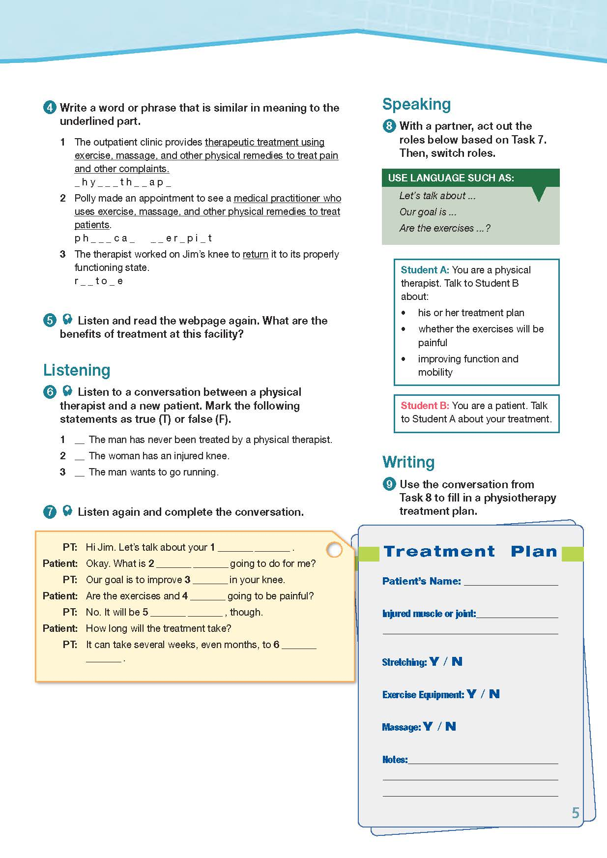 ESP English for Specific Purposes - Career Paths: Physiotherapy - Sample Page 2