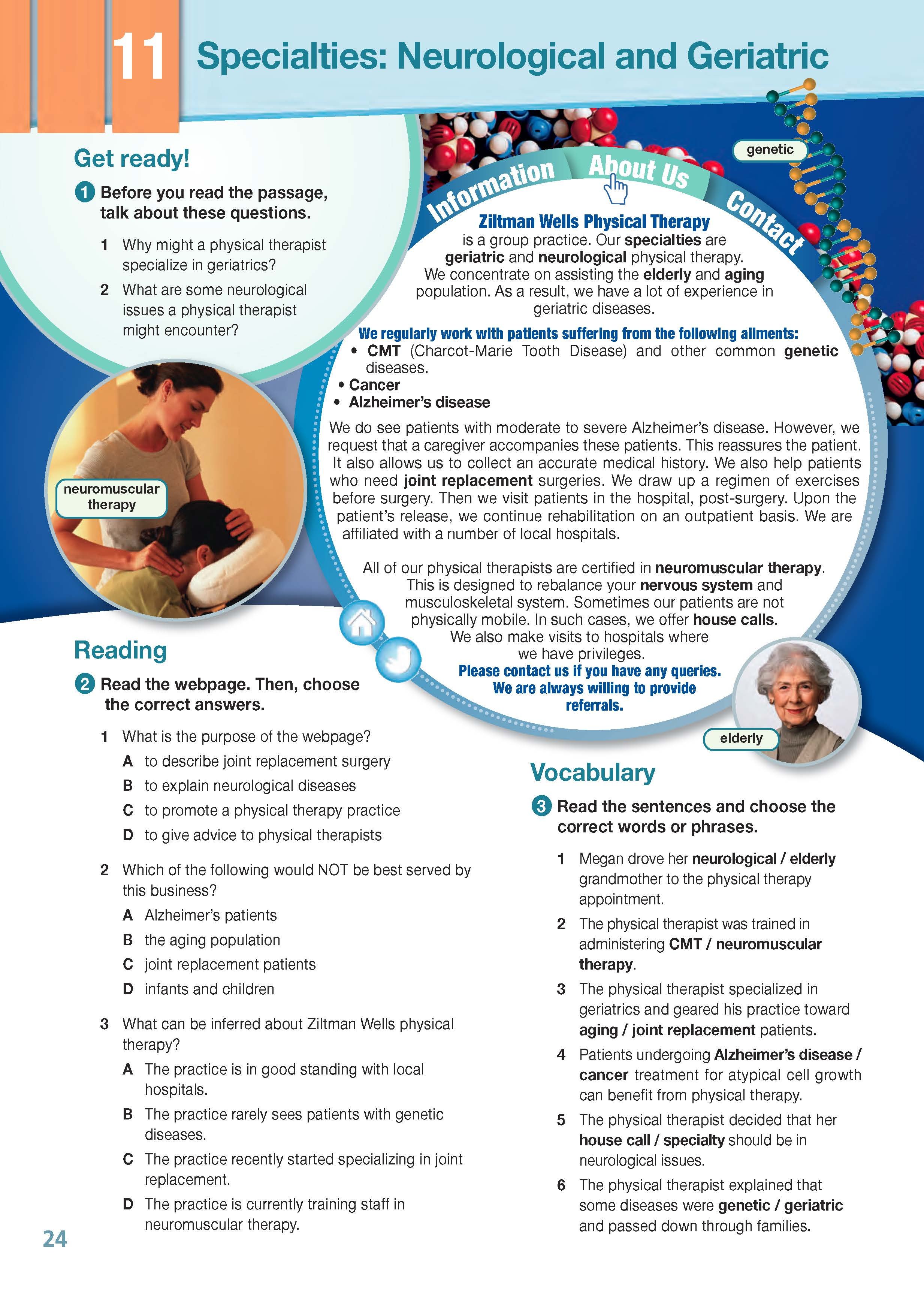 ESP English for Specific Purposes - Career Paths: Physiotherapy - Sample Page 3
