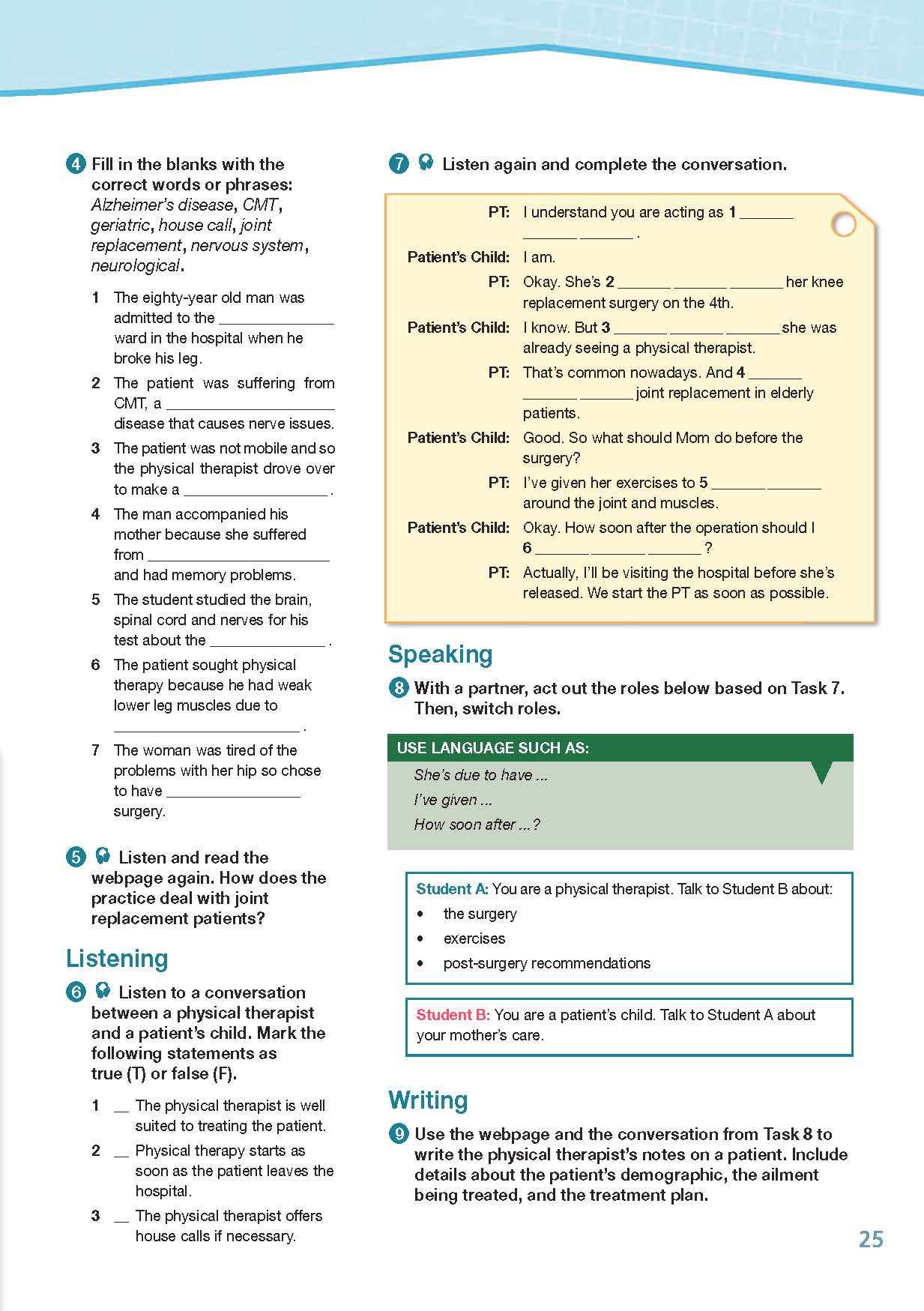 ESP English for Specific Purposes - Career Paths: Physiotherapy - Sample Page 4
