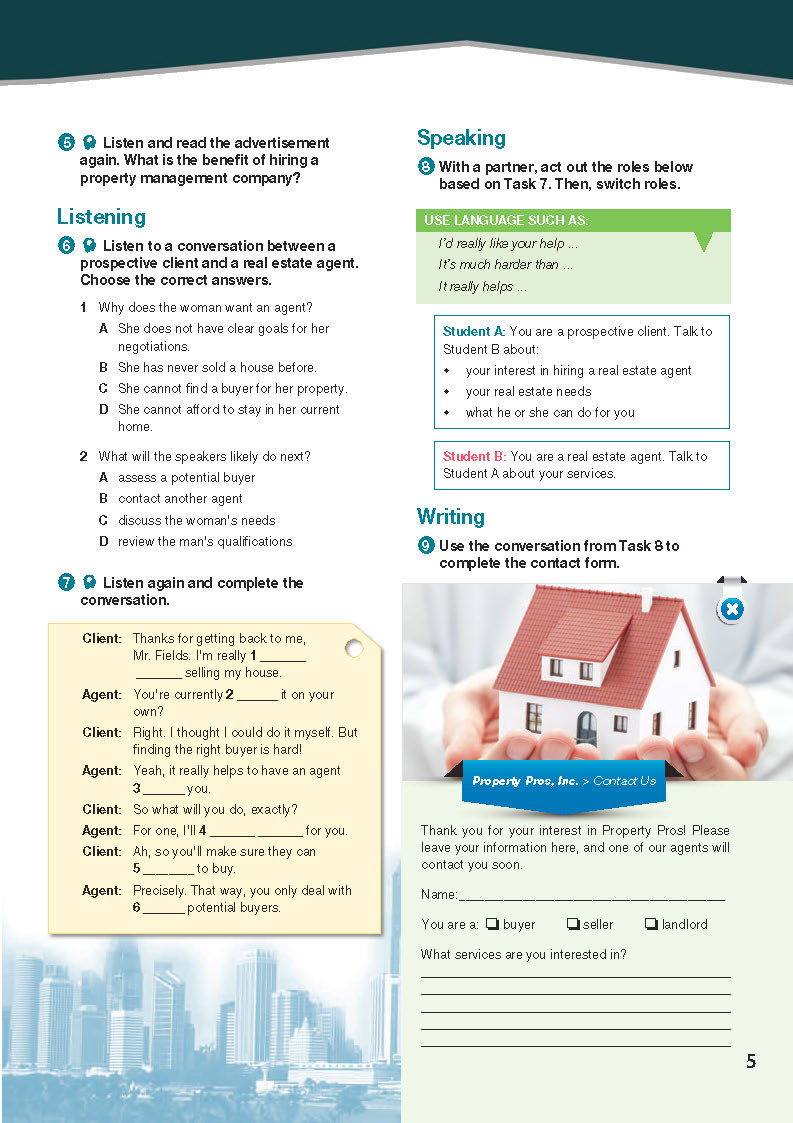 ESP English for Specific Purposes - Career Paths: Real Estate - Sample Page 2