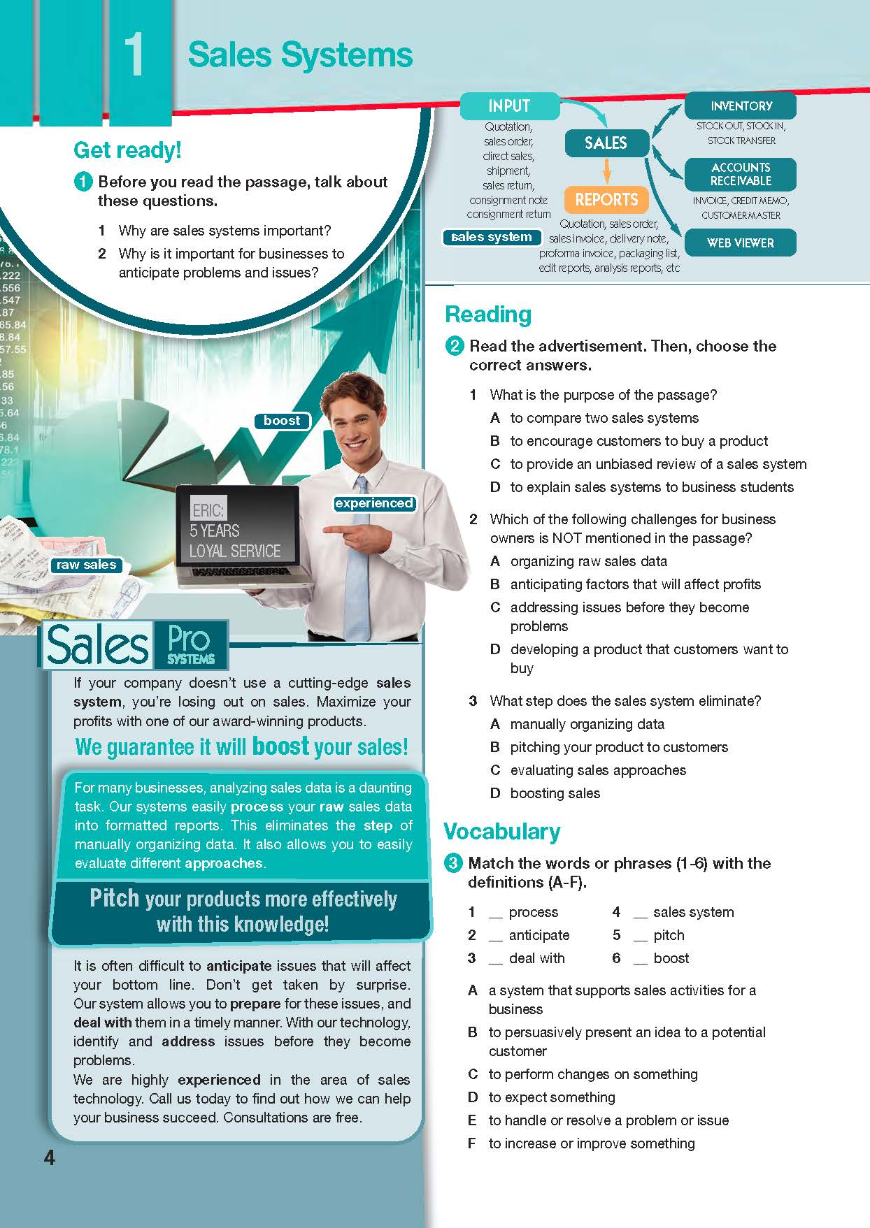 ESP English for Specific Purposes - Career Paths: Sales & Marketing - Sample Page 1