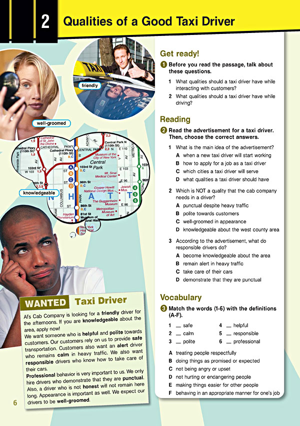 Sample Page 3 - Career Paths: TAXI Drivers