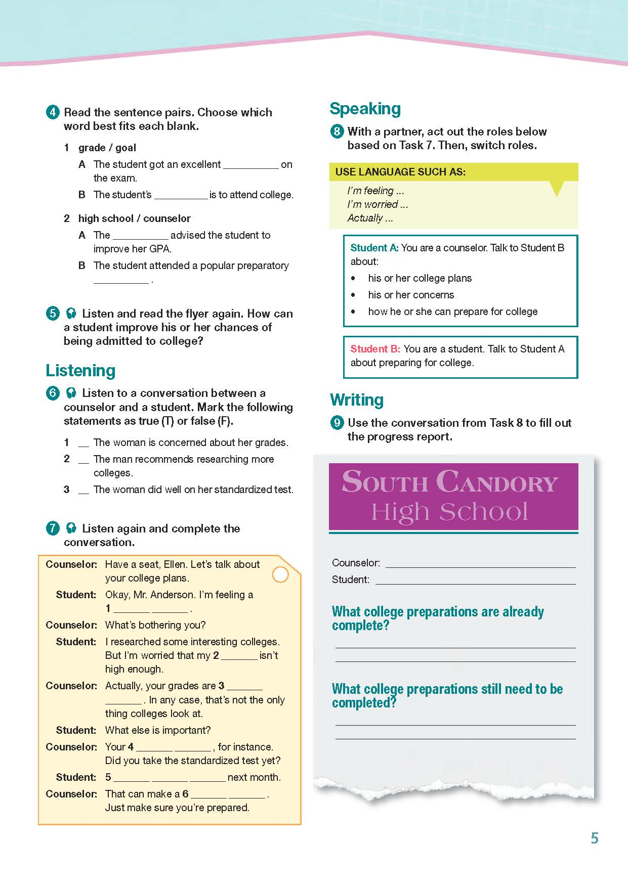 ESP English for Specific Purposes - Career Paths: University Studies - Sample Page 2