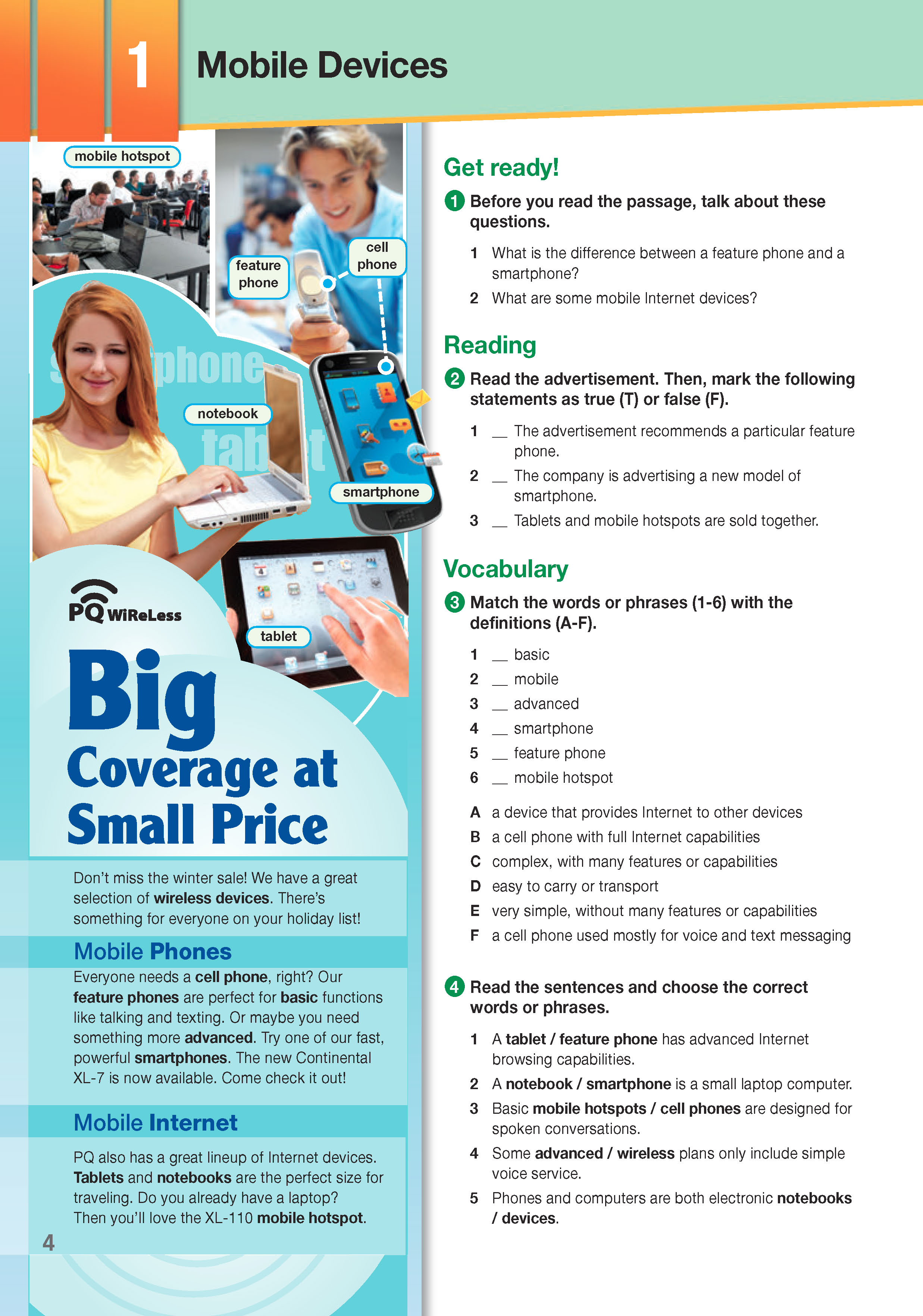 ESP English for Specific Purposes - Career Paths: Wireless Communications - Sample Page 1
