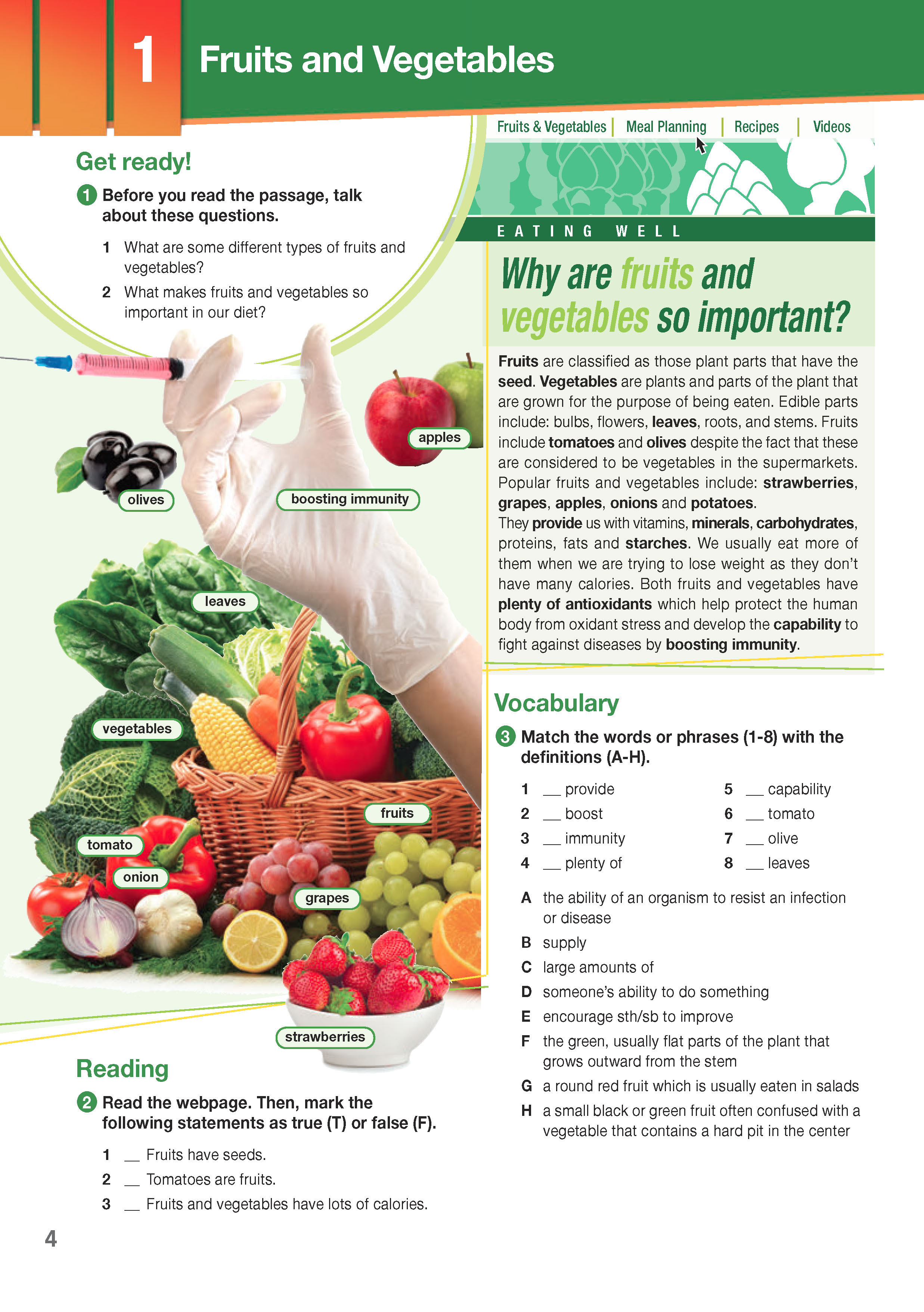 ESP English for Specific Purposes - Career Paths: Nutrition & Dietetics - Sample Page 1
