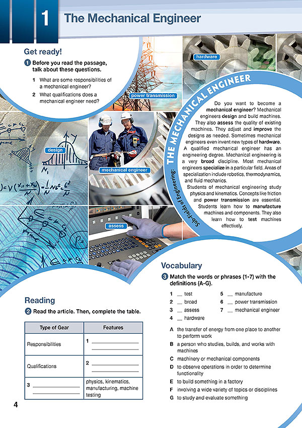 Sample Page 1 - Career Paths: Mechanical Engineering