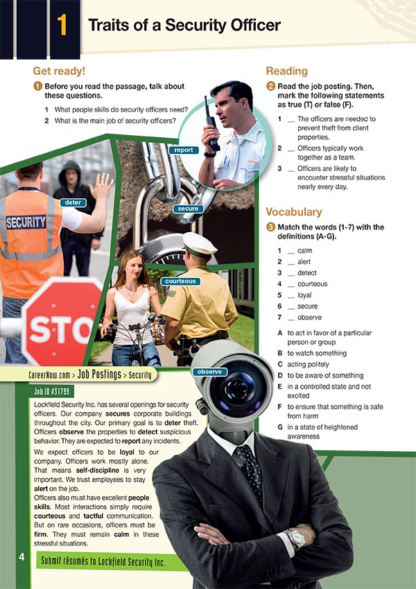 Sample Page 2- Career Paths: Career Paths: Security Personnel